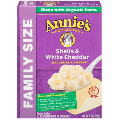 Annie's Homegrown Mac & Cheese, Shells & White Cheddar, 10.5 Oz