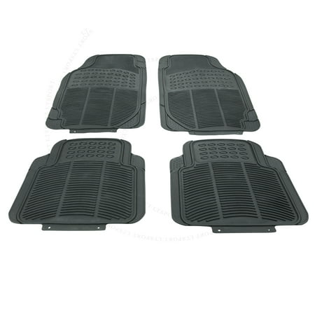Fit Toyota Floor Mat Rubber Carpet 4pcs All Weather Waterproof Deep Dish Protect For 4Runner Avalon Camry Celica
