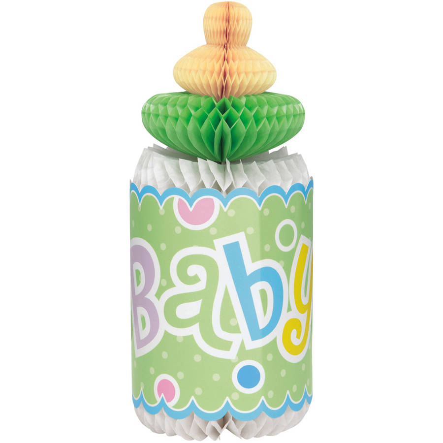 Polka Dot Baby Shower Centerpiece Decoration, 12 in, Multicolor, 1ct