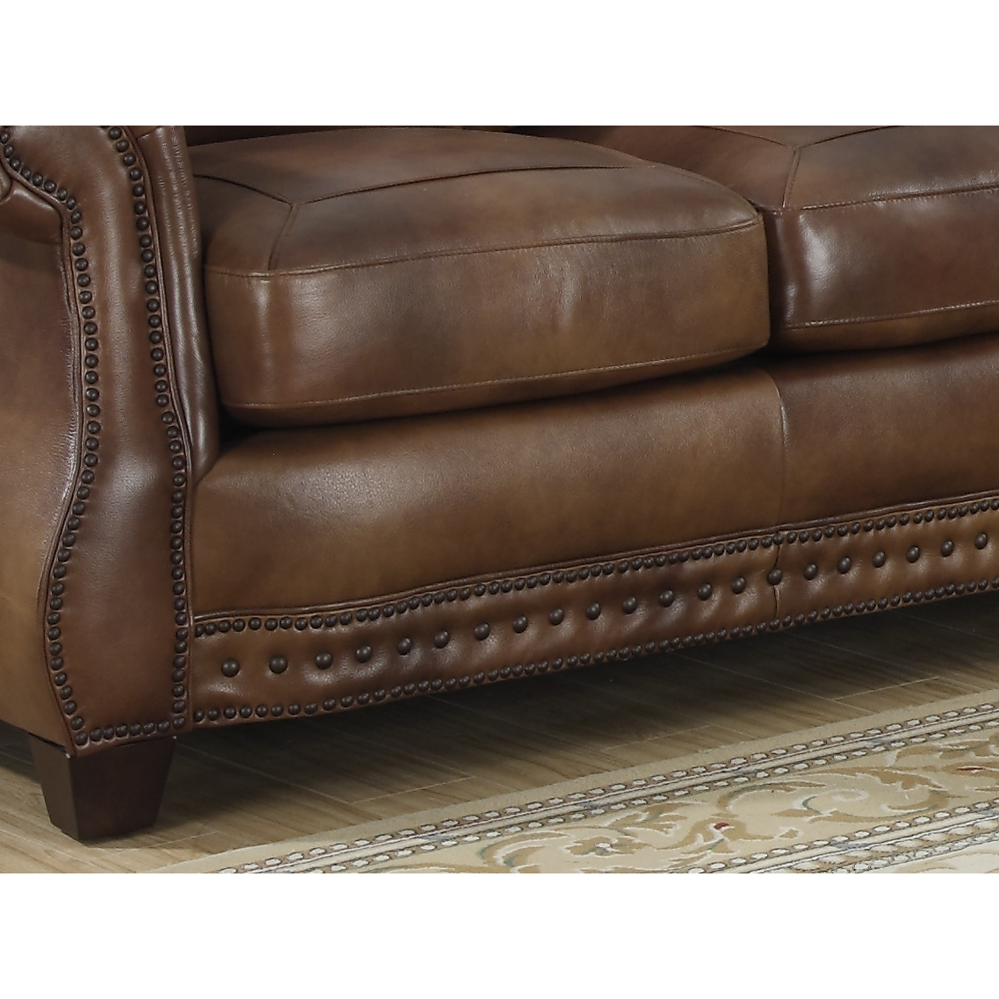 sterling cognac brown italian leather sofa loveseat and chair