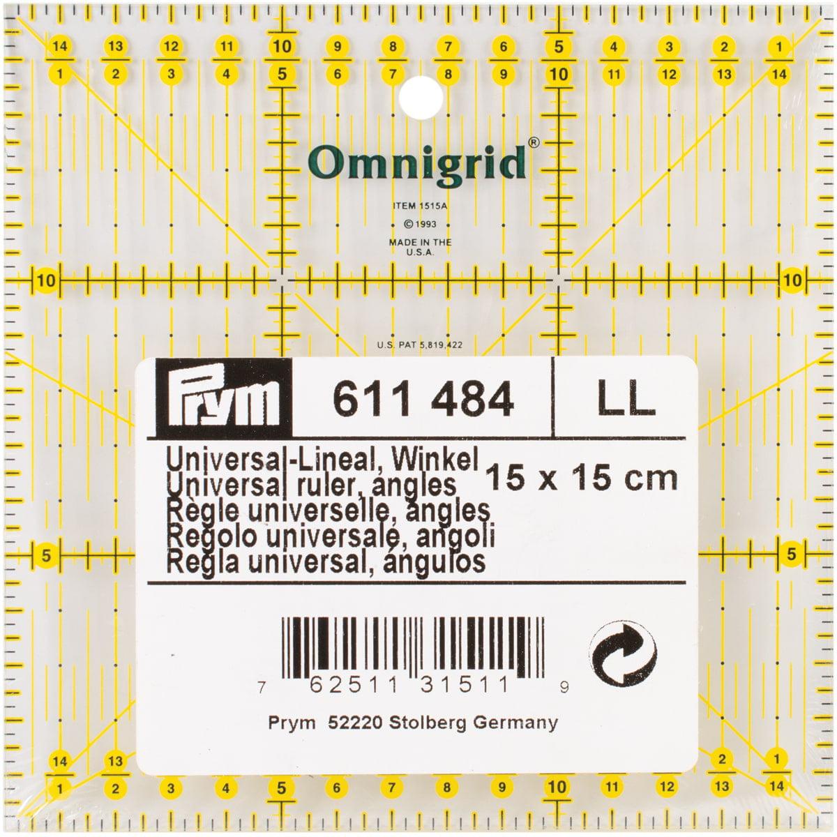 Dritz Omnigrid Metric Quilter's Ruler-15cm X 15 Cm W/Angles