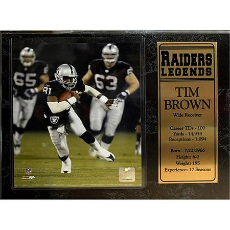 - NFL Tim Brown Stat Plaque, 12x15