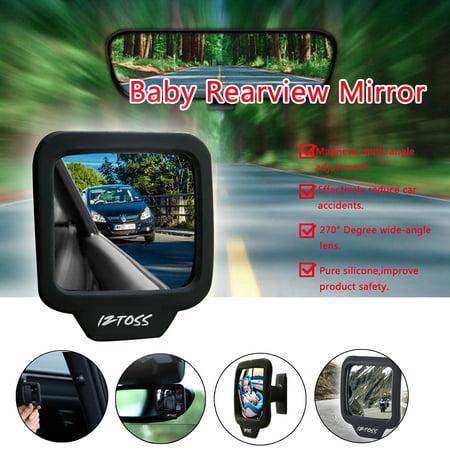 2pcs Baby Car Seat Rear View Mirror Facing Back Infant Kids Child Toddler Safety