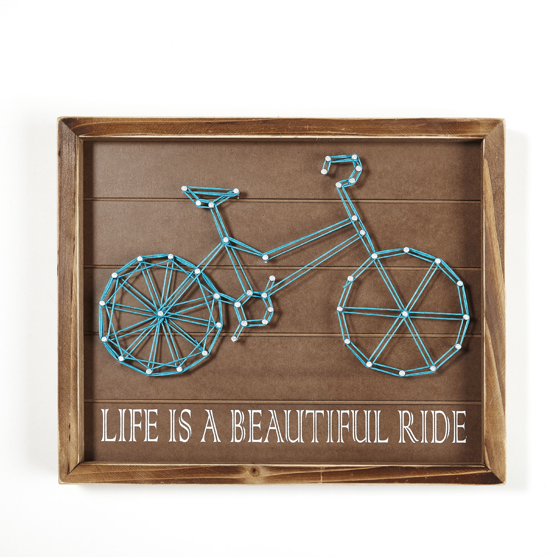 Better Homes & Gardens Beautiful Ride Wood Hanging Wall Art
