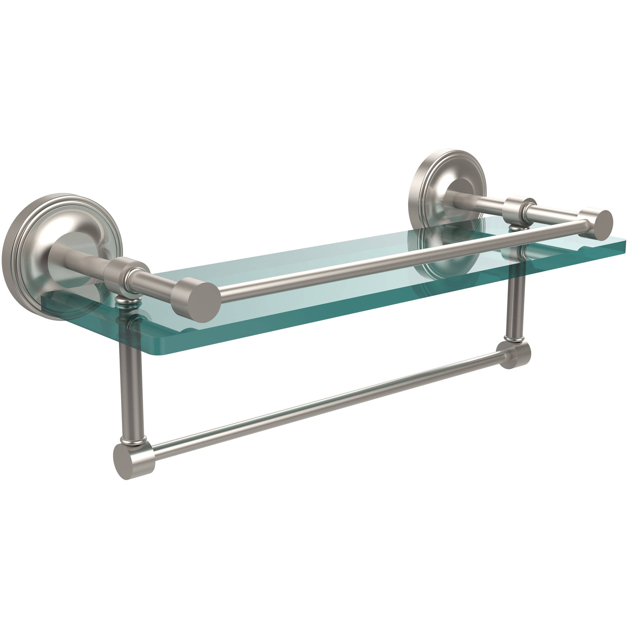 "16"" Gallery Glass Shelf with Towel Bar (Build to Order)"