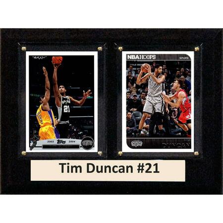 C&I Collectables NBA 6x8 Tim Duncan San Antonio Spurs 2-Card Plaque