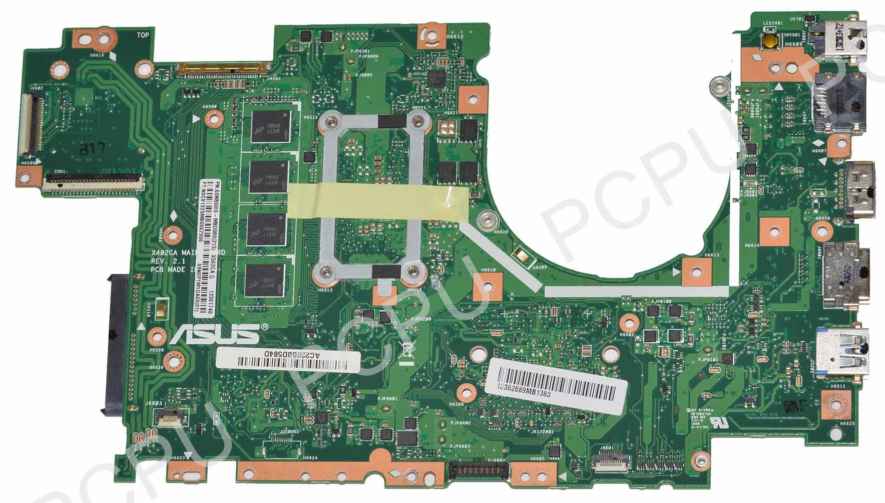 Asus X502CA Laptop Motherboard w// Intel Celeron 1007U 1.5Ghz CPU 60NB00I0-MBD080