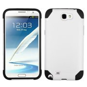 Insten White/Black Frosted Fusion Case for SAMSUNG: Galaxy Note II (T889/I605/N7100)