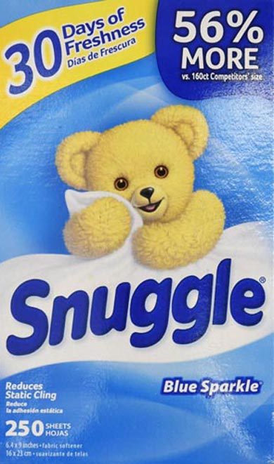 Snuggle Fresh Dryer Sheets, Blue Sparkle, 250 ct