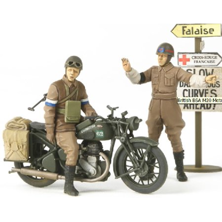 1/35 British BSA M20 Motorcycle w/Rider & MP