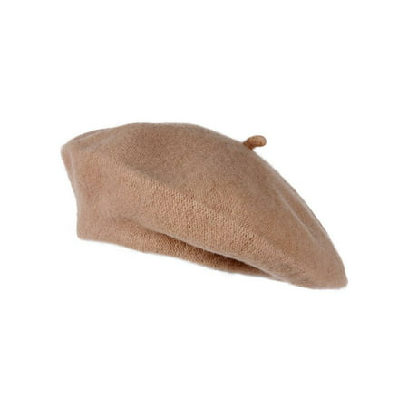 TopHeadwear Wool Blend French Bohemian Beret (Brown Hat)