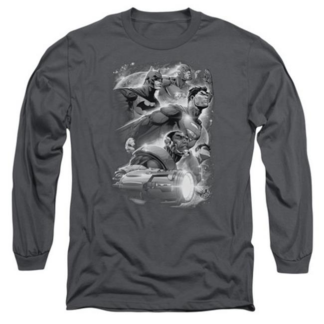 Jla-Atmospheric Long Sleeve Adult 18-1 Tee, Charcoal - Small - image 1 de 1