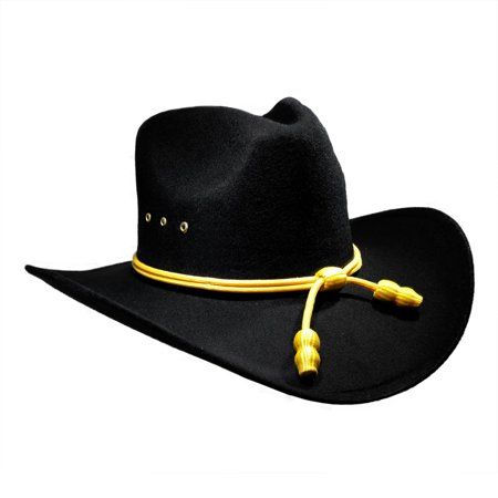 bc44bf594 Faux Felt Union Officer Black Pinch Front Hat W/ Cavalry Band Civil War  Replica - Walmart.com