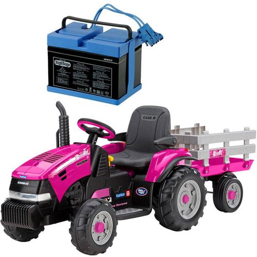 Peg Perego Case IH Magnum Tracktor Trailer With 12 Volt Battery and Charger Pi by Peg Perego
