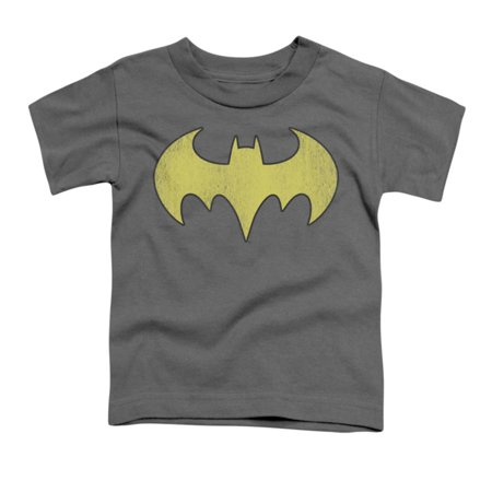 DC Comics Boys' Batgirl Logo Distressed Childrens T-shirt - Batgirl Toddler