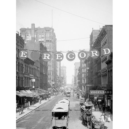 Madison St. East from Fifth Ave., Chicago Print Wall