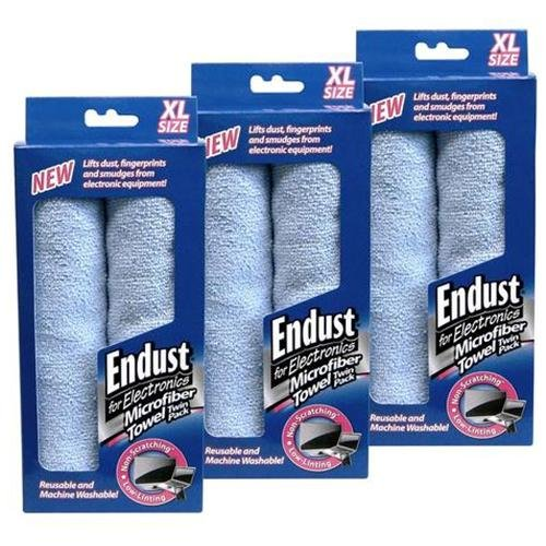 3 Packs Of Endust 11421 Microfiber Towels 2 Per Pack