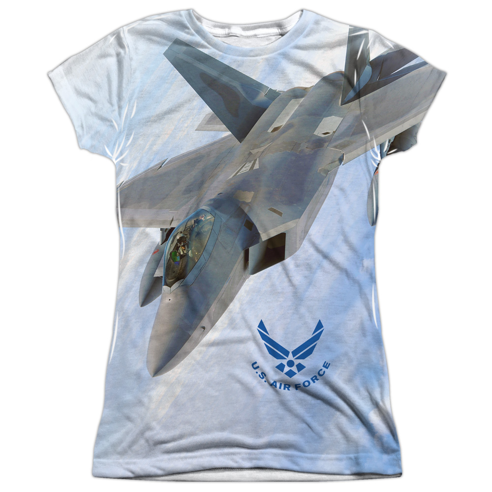 Air Force Fly By Juniors Sublimation Polyester Shirt