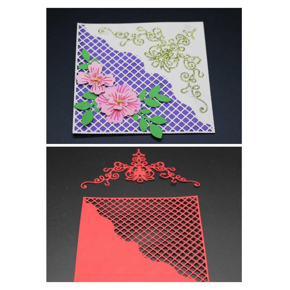 HiCoup Grids Flower Shape Cutting Dies Stencil Scrapbooking DIY Photo Album Paper Card
