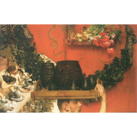 Framed Art for Your Wall Alma -Tadema, Sir Lawrence - The Roman pottery in Britain 10 x 13 Frame