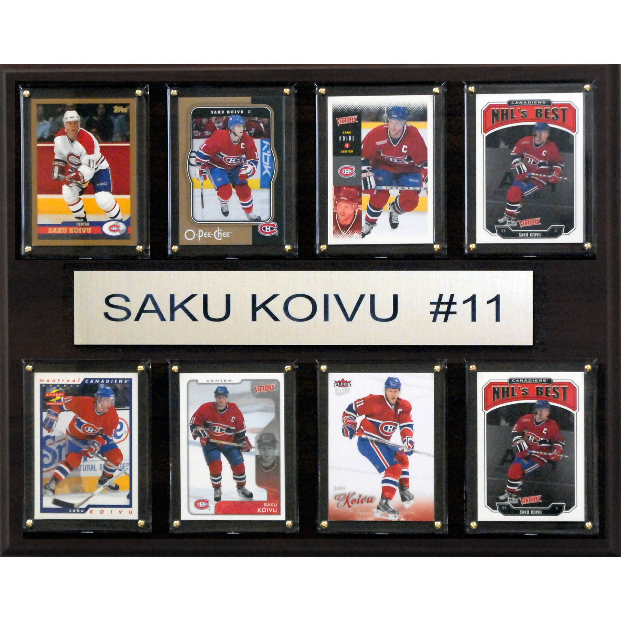 C&I Collectables NHL 12x15 Saku Koivu Montreal Canadiens 8-Card Plaque