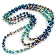 Sweet Romance  Iridescent Glass Beads Necklace