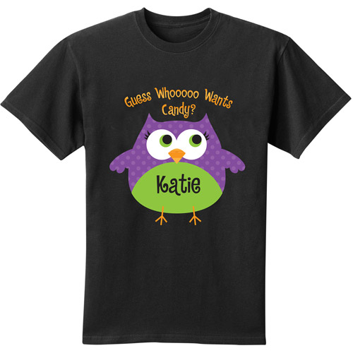 Personalized Halloween Youth T-Shirt, Owl