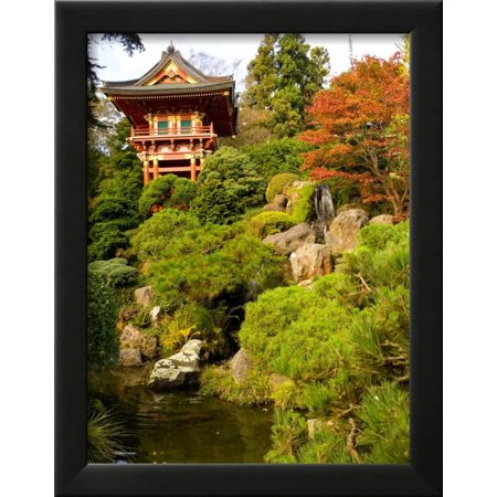 japanese tea garden golden gate park san francisco california usa framed photographic - Golden Gate Park Japanese Tea Garden