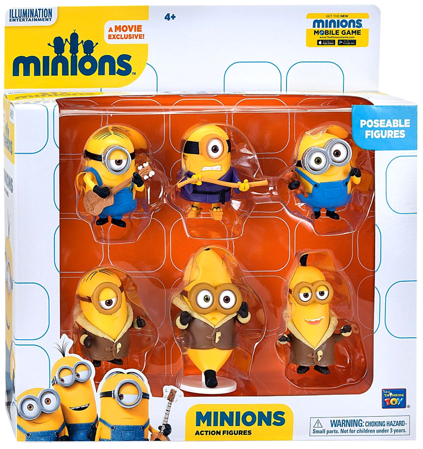 Despicable Me Minions Movie Minions Action FIgure 6-Pack by