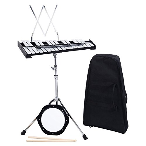 douself 30 Notes Glockenspiel Bell Kit Percussion with Practice Pad, Mallets, Sticks and... by douself