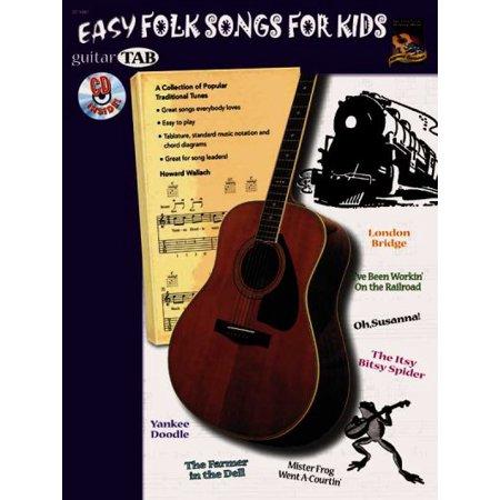 Easy Folk Songs for Kids (Guitar - Halloween Songs For Guitar Tabs