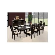 10 Pc Contemporary Expandable Dining Set in Wenge Finish - Novo