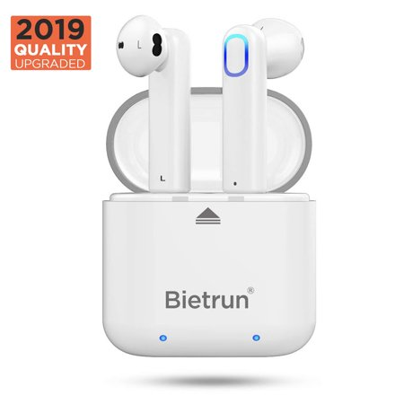 True Wireless Earbuds, Bluetooth 5.0 Headphones Earbud 24H Playtime 3D Stereo HD Wireless Earphones with Mic, Binaural Call Auto Pairing, Wireless Headset Earpiece with Portable Charging Case, (Best Binaural Beats App 2019)