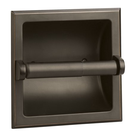 Design House 539254 Millbridge Recessed Toilet Paper Holder, Oil Rubbed Bronze - Golf Toilet Paper Holder
