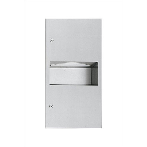 American Specialties Simplicity Paper Towel Dispenser with 1.8 gal. Waste Receptacle - 350 C-fold or 475 Multi-fold Capacity