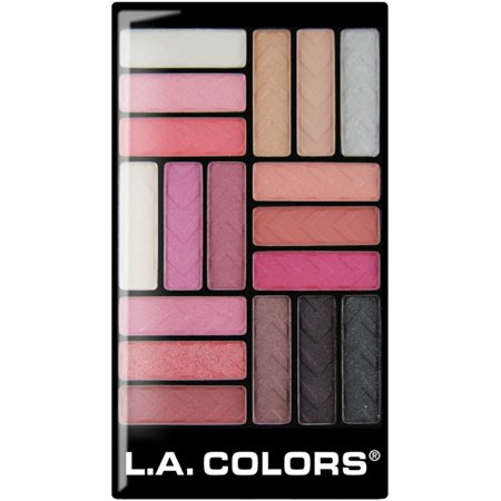 4 Pack - L.A. Colors 18 Color Eyeshadow Palette, Diva Glam 1 ea