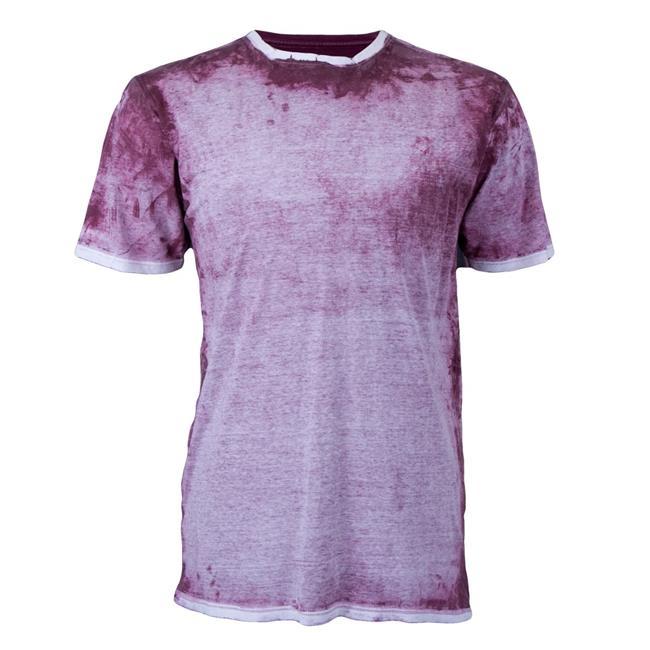 Miljames 5015601SML Adult Over Print Tee Cotton T-Shirt, Cardinal - Small - image 1 de 1