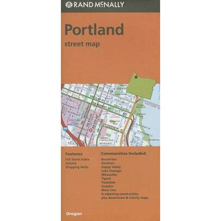 Rand McNally Portland, Oregon Street Map - Folded