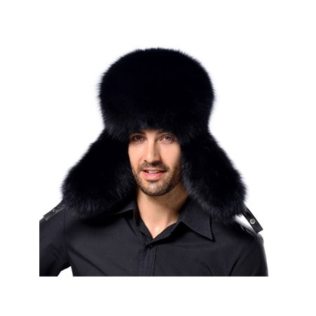 e0d46f2e606 Mens Winter Warmer Faux Fur Trapper Ski Russian Ushanka Trapper Bomber Hat  Gift - Walmart.com