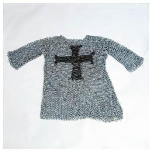 Chainmail Shirt w Templar Cross