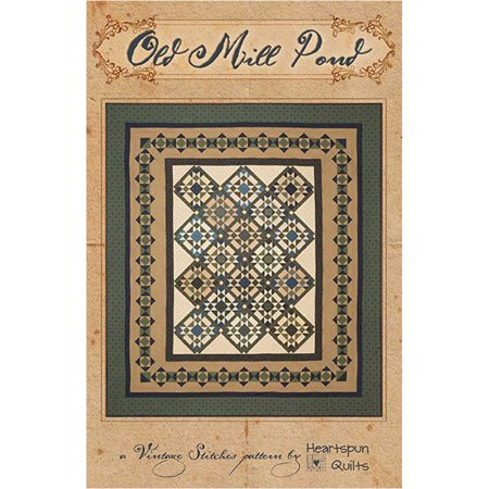 Old Mill Pond Quilt Pattern by Heartspun Quilts