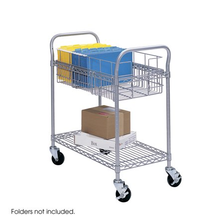 Safco 5235GR Mail Carts Wire Mail Cart, 24 - Wire Mail Cart