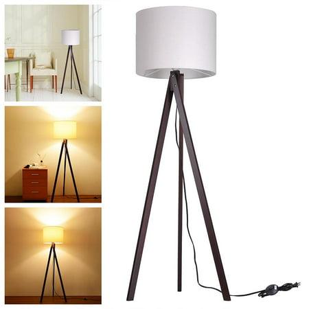 Yescom 57 2 Wooden Tripod Floor Lamp Cotton Fabric