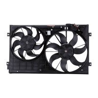 TYC 621490 Dual Radiator and Condenser Fan Assembly for 341-55005-100 bn