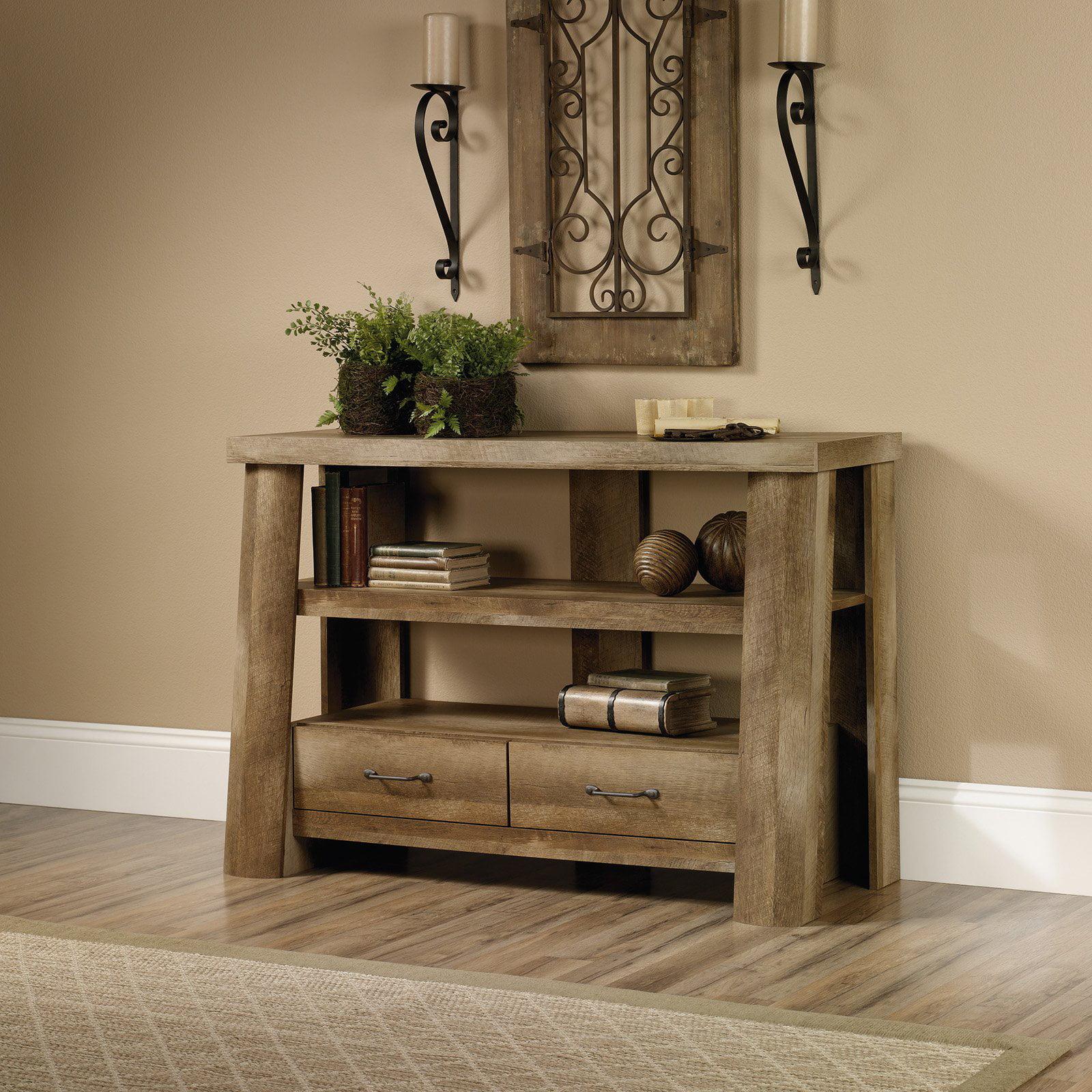 Console Tables Walmart Com ~ Oak Sofa Table With Storage