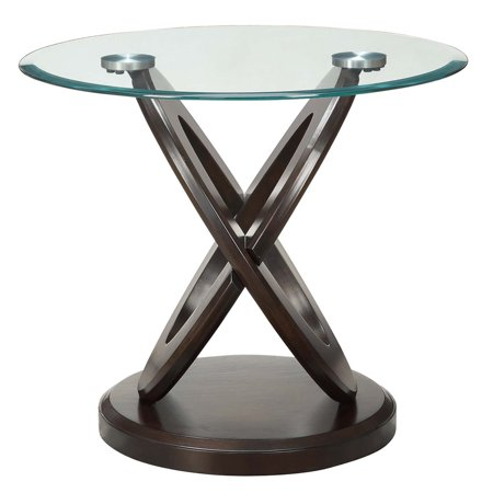 Laminate Occasional End Table - Coaster Furniture Occasional Group Intersecting Ring End Table - Cappuccino