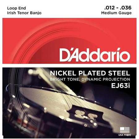 D'Addario EJ63i Nickel Irish Tenor Banjo Strings (9-30) ()