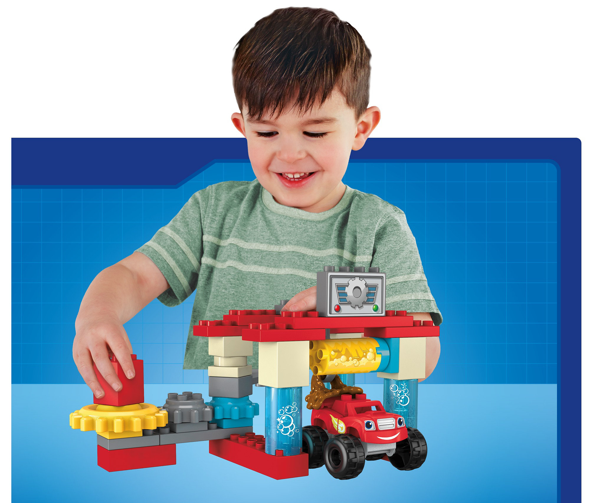 Mega Bloks Nickelodeon Blaze and the Monster Machines Axle City Truck Wash Building Set by Mattel