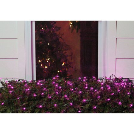 Northlight 150 ct. LED Net Style Christmas Lights with Green Wire](Orange Net Lights Halloween)