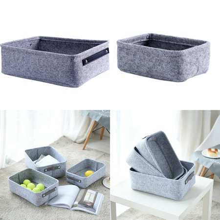 Felt Storage Basket Living Room Coffee Table Storage Box Cloth Felt Storage Hamper - Felt Baskets